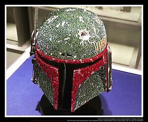 599081a46 Image is loading Star-Wars-Boba-Fett-Helmet-Swarovski-Crystal-Worldwide-