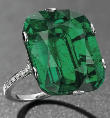 Huge Emerald Wedding Engagement Ring Propose 925 Silver Jewelry Gifts Size 6-10