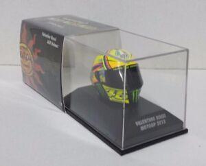 Valentino Rossi Casque Minichamps Agv Modèle 1/8 Motogp 2013 Yamaha Nouveau