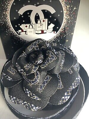 Authentic Chanel Camellia Flower Accessory Ribbon 2019 2020