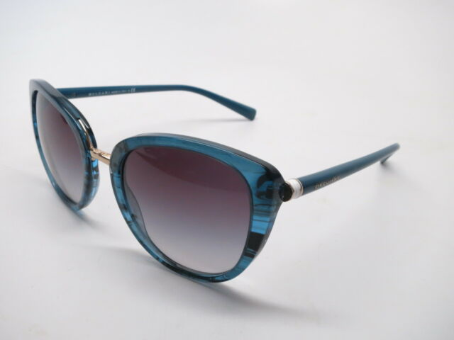 37c38a8e5ea New Authentic Bvlgari BV 8177 5396 8G Blue with Grey Gradient Sunglasses  BV8177