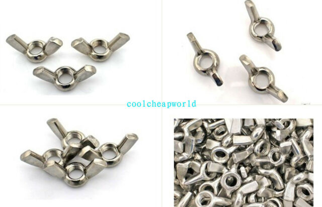 10pcs Metric Thread M5 304 Stainless Steel Wing Nuts Butterfly Nuts