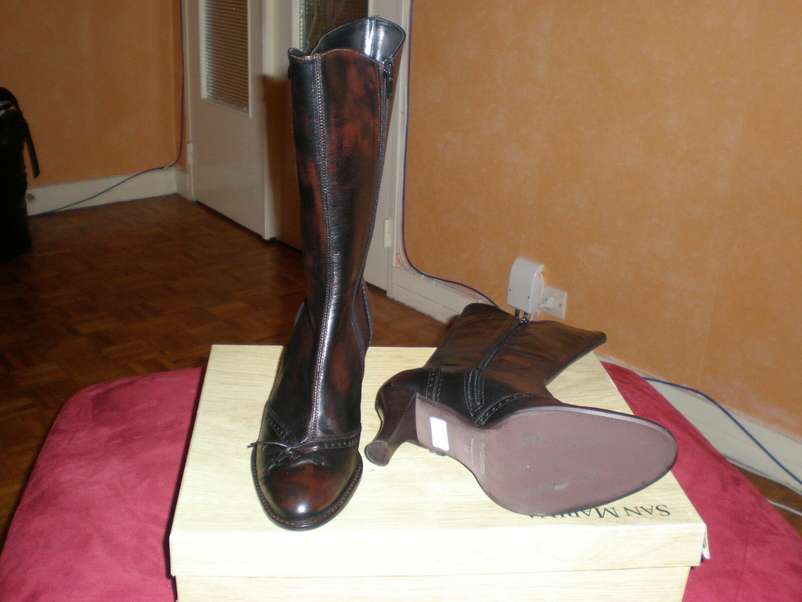 S bottes new leather san marina chaussures Taille 40