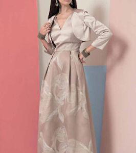 newest 93bb2 ec22b Dettagli su EDAS Bolero coprispalle donna elegante cerimonia Ramonte NERO  ORO giacca forti