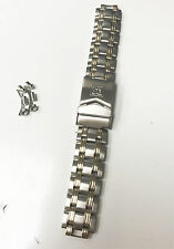 DS TWO TONE STAINLESS STEEL BRACELET 18MM FOLD OVER SAFETY CLASP BRACELET