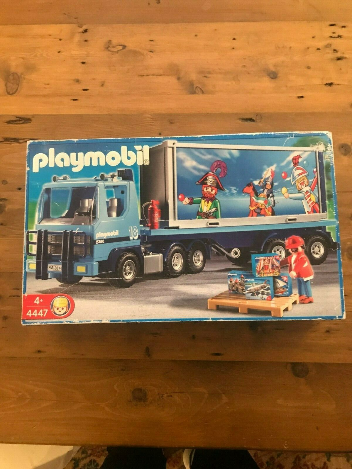 Playmobil 4447 - Container Truck New But Scuffed Box