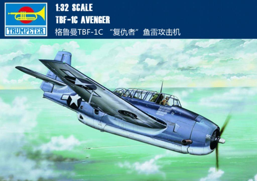 ◆ Trumpeter 1 32 02233 TBF-1C Avenger model kit