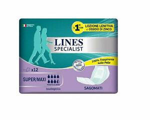 4-X-PANNOLONI-SAGOMATI-LINES-SPECIALIST-per-Adulti-Super-Maxi-incontinenza