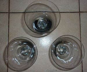 "Antiques Glass Set Of 3 Skilful Manufacture Strict Small Stemware Glasses 2 1/4""h 5 1/4""h Wine/sherry"