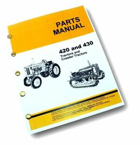 John deere 420 parts manual