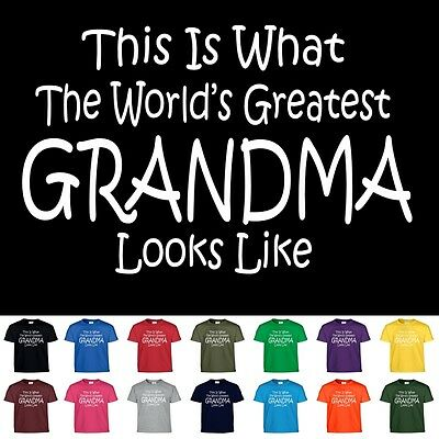 Worlds Greatest GRANDMA Mothers Day Birthday Christmas Nana Mom Gift Tee T Shirt