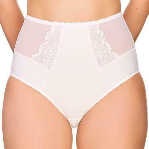 Semi Sheer High Waist Brief Panty New Lauma Lingerie Vivian 97E51