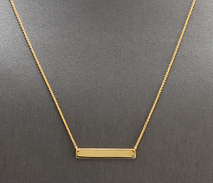 14K-Solid-Yellow-Gold-Bar-Necklace-with-Diamond-Accent