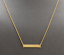 14K-Solid-Yellow-Gold-Bar-Necklace-with-Diamond-Accent thumbnail 1