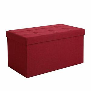 Incredible Details About Bench Ottoman Storage Trunk Puff Seat Folding For Bedroom Ncnpc Chair Design For Home Ncnpcorg