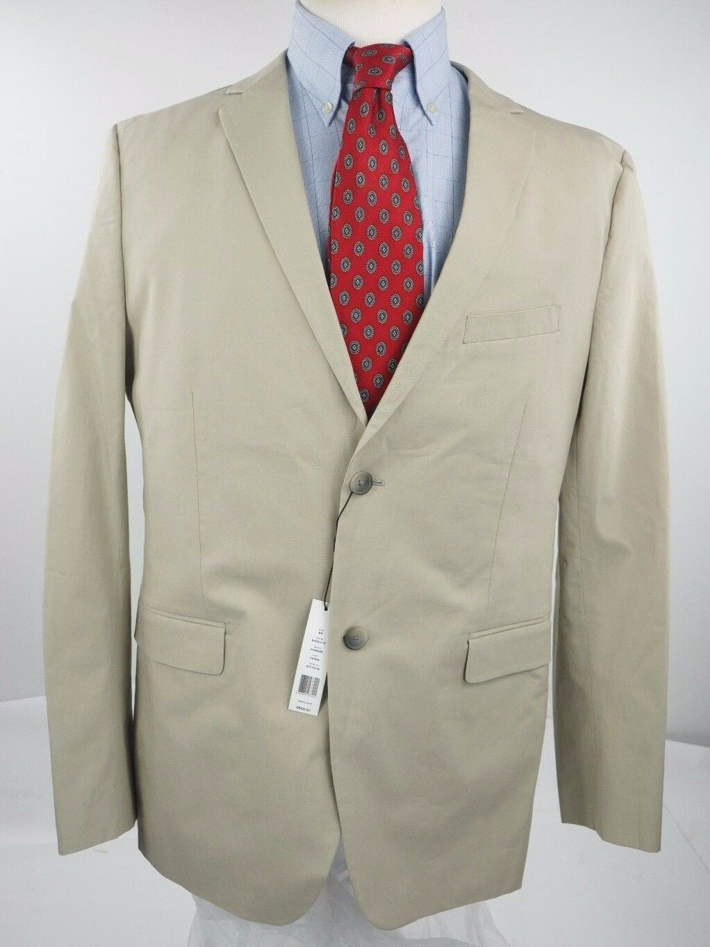 New with Tag Mens Theory Sport Coat Blazer Size 44 R Beige Cotton Blend