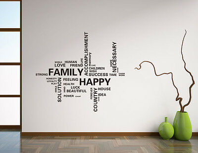 Wall Sticker Home Decor Removable Art Vinyl Decal Quote Family AUS STOCK