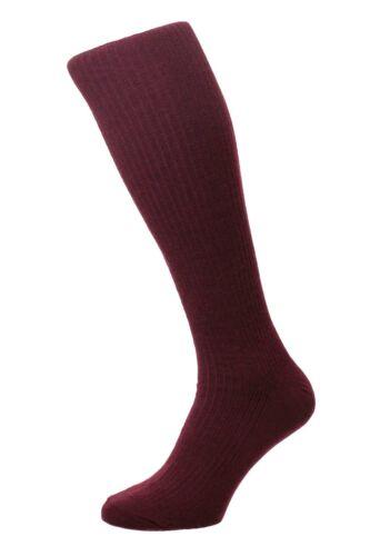 CON ELASTANO Para Hombre Hj Hall Inmaculada ™ HJ77 Manguera Larga de Lana Rico calcetines UK 6-13