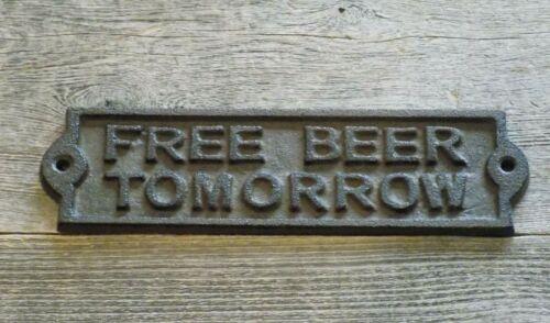 8 bière gratuite demain porte plaque Jardin Signes Ranch fonte Wholesale LOT