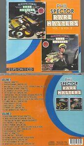 PHIL SPECTOR/RONETTES/CRYSTALS/DARLENE LOVE + MORE-RARE MASTERS V. 1 & 2-CD