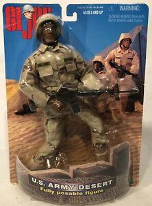 GI Joe 1998 Hasbro Inc U.S Army Desert Fully Posable Figure New On Sealed Card!