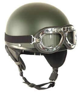 casque moto r tro quad scooter vintage bmw avec lunettes. Black Bedroom Furniture Sets. Home Design Ideas
