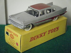 Dinky-No-192-034-De-Soto-Fireflite-Sedan-034-Grey-Red-RARE-PLAIN-BOX