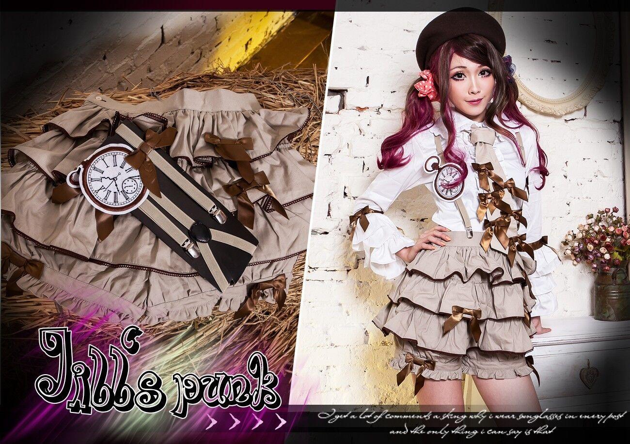 Lolita goth fairy kei Princess mimiya gallus tiered bloomer shorts JMS001