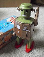 """COOL Modern Tin Windup Robot in Box - Atomic Robot Man 5 1/2"""" Tall MS415"""