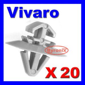 VAUXHALL-VIVARO-LATO-MODANATURA-INFERIORE-Trim-Clip-di-Fissaggio-in-Plastica-Grigio-X-20