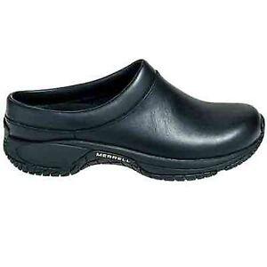 merrell non slip wp leather slip on s shoes size 9 5