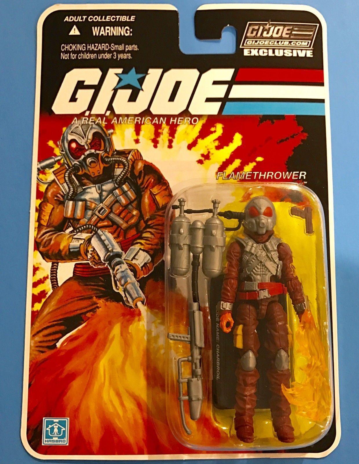 G.I.JOE EXCLUSIVE CLUB FSS 5.0  CHARBROIL - FLAMETHROWER