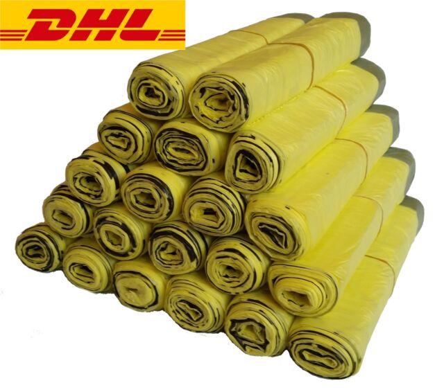 70l Gelber Sack gelbe Säcke Müllbeutel Müllsack Abfallbeutel 25 St extra stark