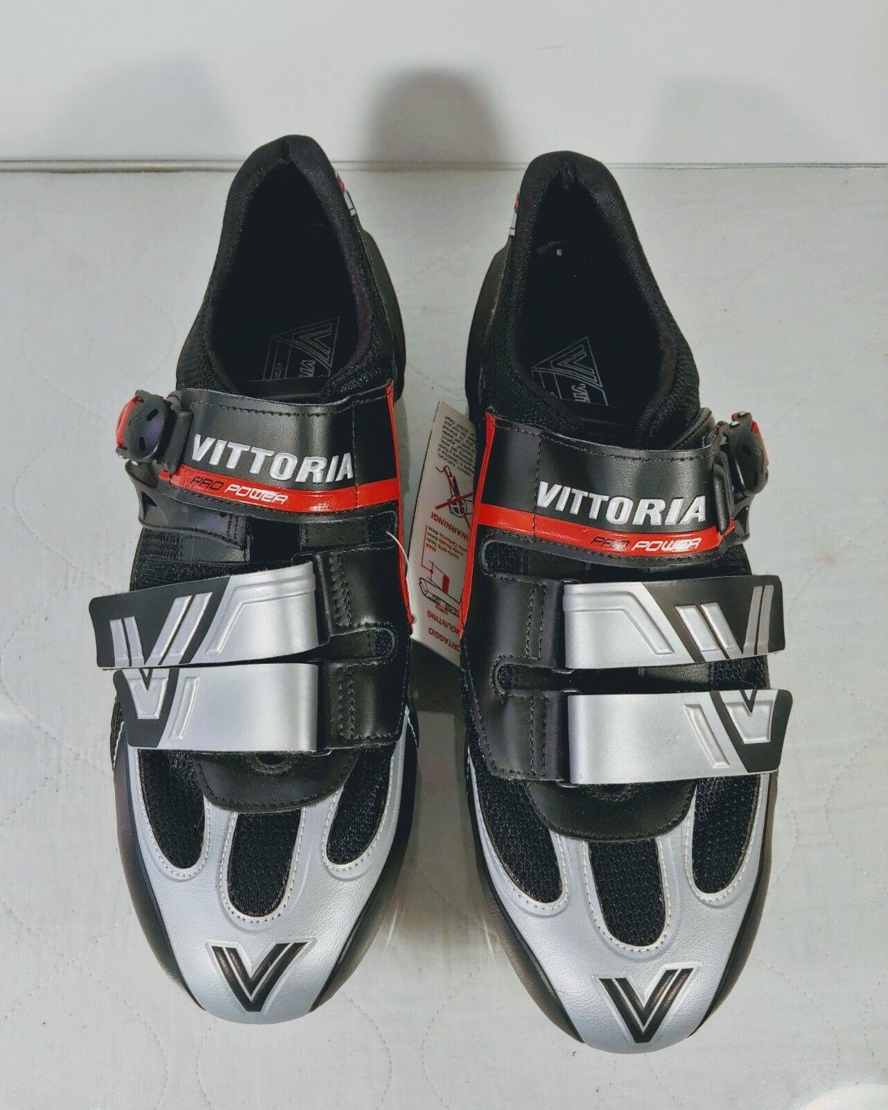 Vittoria Pro Power para hombre Talla 44 ciclismo Gear Zapatos EE. UU. 10 con Shimano-Italia-Nuevo