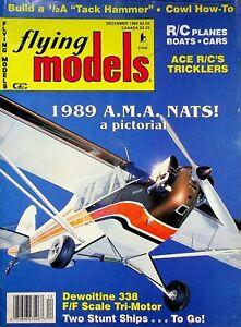 Vintage Flying Models Magazine December 1989 Dewoitine 338 F/F Tri-Motor  m285