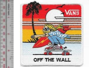 Details about Vintage Surfing & Skateboarding California Vans Off THe Wall Promo Patch