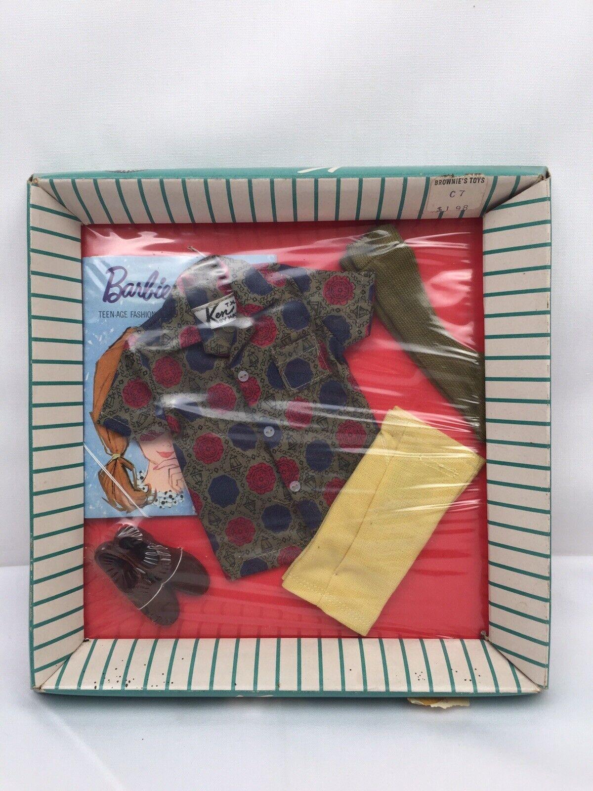 783 Vintage Barbie 1961-63 Ken Doll  SPORT SHORTS  Outfit Set BRAND NEW  RARE