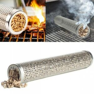 BBQ-Cold-Smoke-Generator-Stainless-Steel-Barbecue-Grill-Accessories-Tools-New