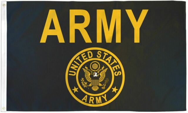 Army Gold And Black Flag United States Military Banner Us Pennant 3x5 For Sale Online Ebay