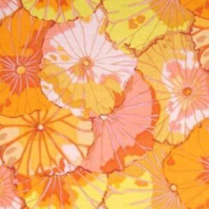 Free-Spirit-Kaffe-Fassett-Lotus-Leaf-GP29-Yellow-Floral-Cotton-Fabric-BTY