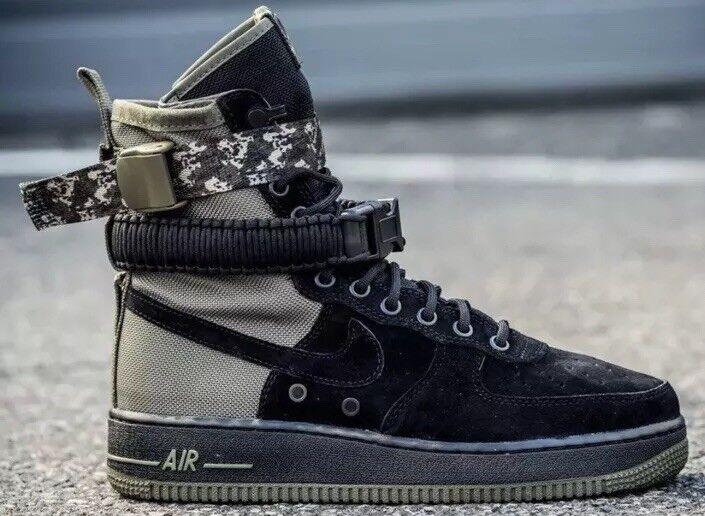 Nike SF Special Field Air Force 1 AF1 Boot Black  Camo Sz 9.5 864024-004 Jordan