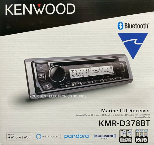NEW Kenwood KMR-D378BT Marine Car Audio CD/AM/FM Receiver w/ Bluetooth