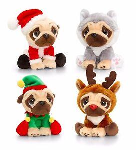 Pugsley-Plush-Soft-Toy-Christmas-Pug-Santa-Elf-Husky-Rudolph-LARGE-20CM