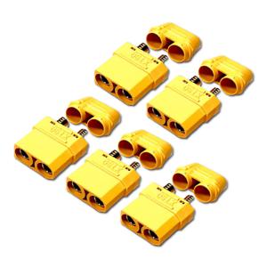 5-Stueck-Original-XT90H-XT90-Goldstecker-Female-Stecker-Schutzkappen-Lipo-Akku-RC