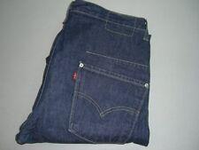 Mens LEVI'S STRAUSS & CO. Engineered Twisted Dark Blue Denim Jeans W32 L34