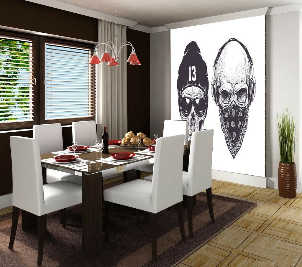 3D Fashion Skulls 77  Wall Paper Murals Wall Print Wall Wallpaper Mural AU Lemon