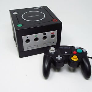 Nintendo-Gamecube-Black-Console-amp-Original-Controller-ONLY-Works-No-Cords