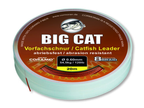 Micro Coramid® Waller-Vorfachschnur CORMORAN BIG CAT 8-BRAID braun