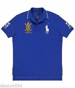 Details about Mens Ralph Lauren CLASSIC FIT #3 Summer Classic BIG PONY Blue Rugby Polo Shirt S