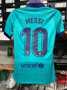 Nike Fc Barcelona Third Kid 2019 20 Green 10 Lionel Messi Le Size Man Xl Only Ebay